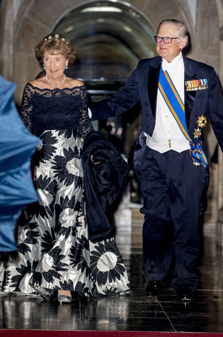 La princesse Margriet des Pays-Bas et son époux à Amsterdam, le 24 avril 2018