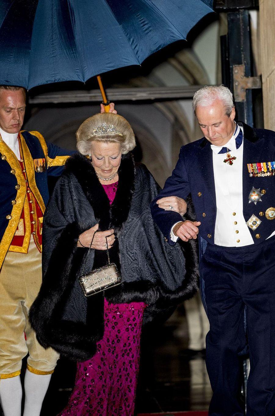 L'ex-reine Beatrix des Pays-Bas à Amsterdam, le 24 avril 2018