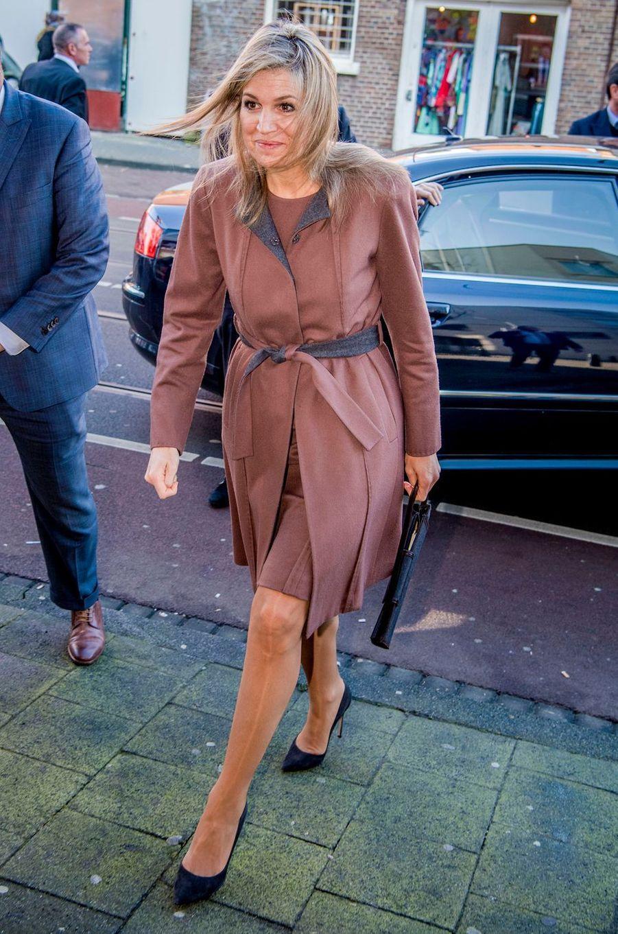 La reine Maxima des Pays-Bas, en Natan, à La Haye, le 22 février 2018