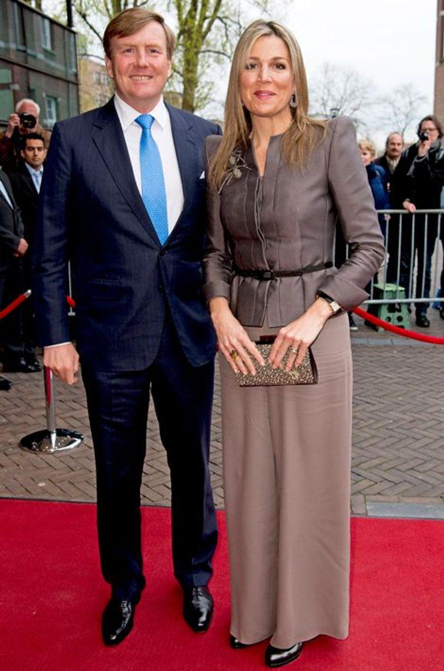 La reine Maxima et le roi Willem-Alexander des Pays-Bas à Zwolle, le 18 avril 2016