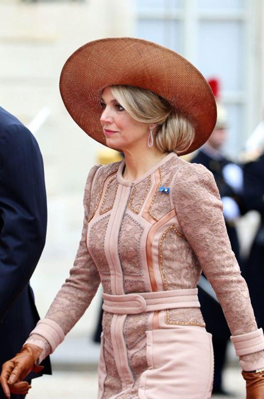 La reine Maxima des Pays-Bas à Paris, le 10 mars 2016