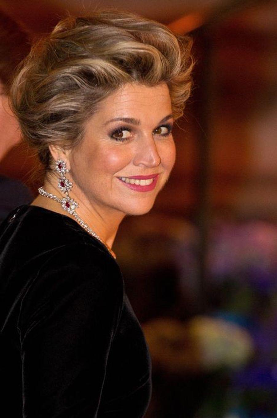 La reine Maxima des Pays-Bas à Paris, le 11 mars 2016