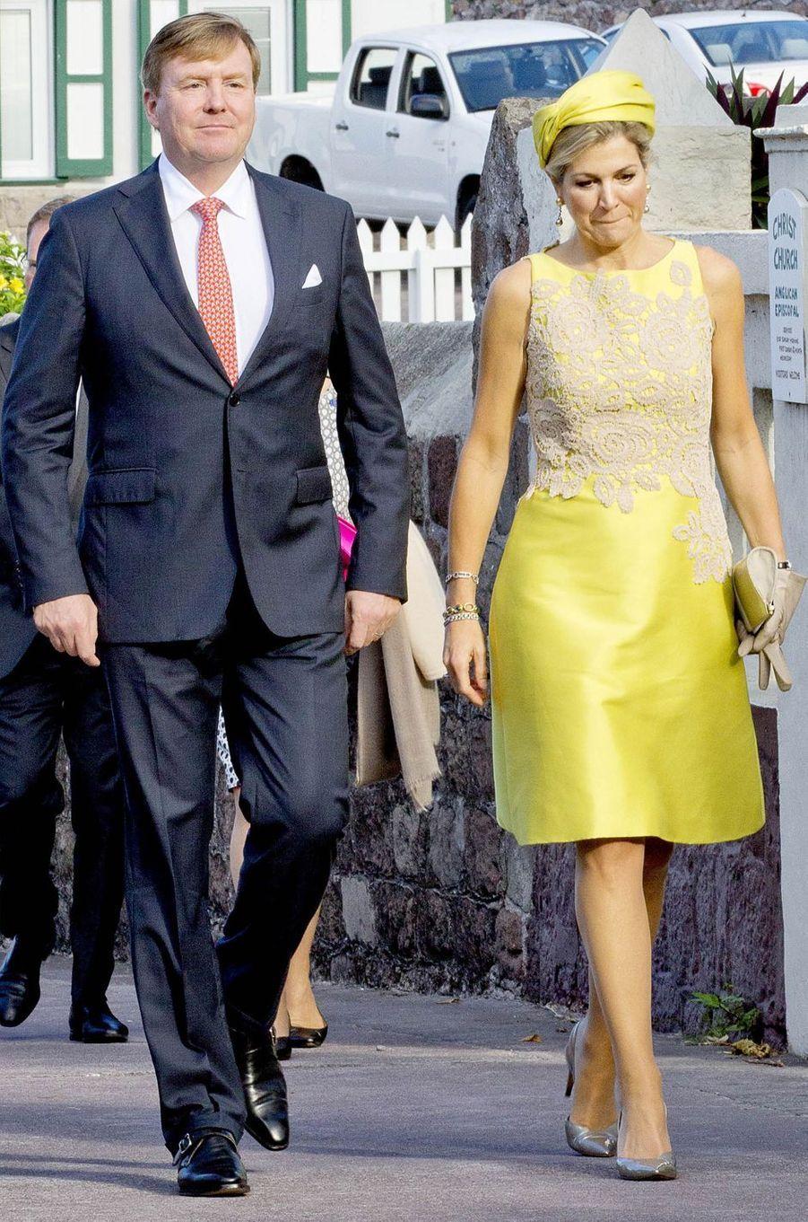 La reine Maxima des Pays-Bas en Natan à Saba, le 1er décembre 2017