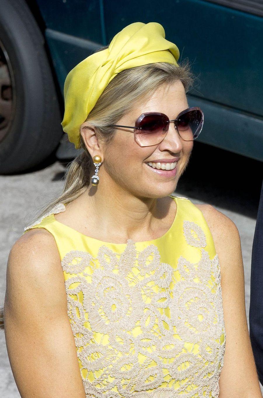 La reine Maxima des Pays-Bas à Saba, le 1er décembre 2017