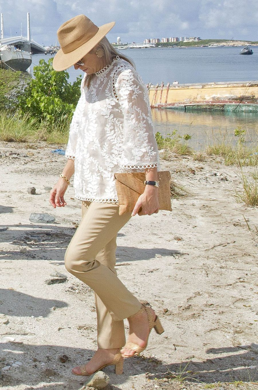 La reine Maxima des Pays-Bas à Saint-Martin, le 2 décembre 2017