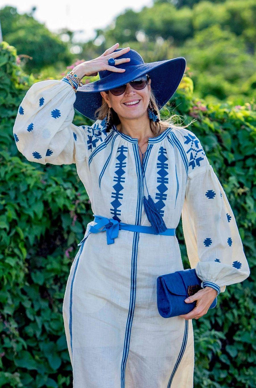 La reine Maxima des Pays-Bas à Saint-Eustache, le 30 novembre 2017