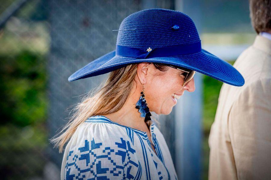 Le chapeau de la reine Maxima des Pays-Bas à Saint-Eustache, le 30 novembre 2017