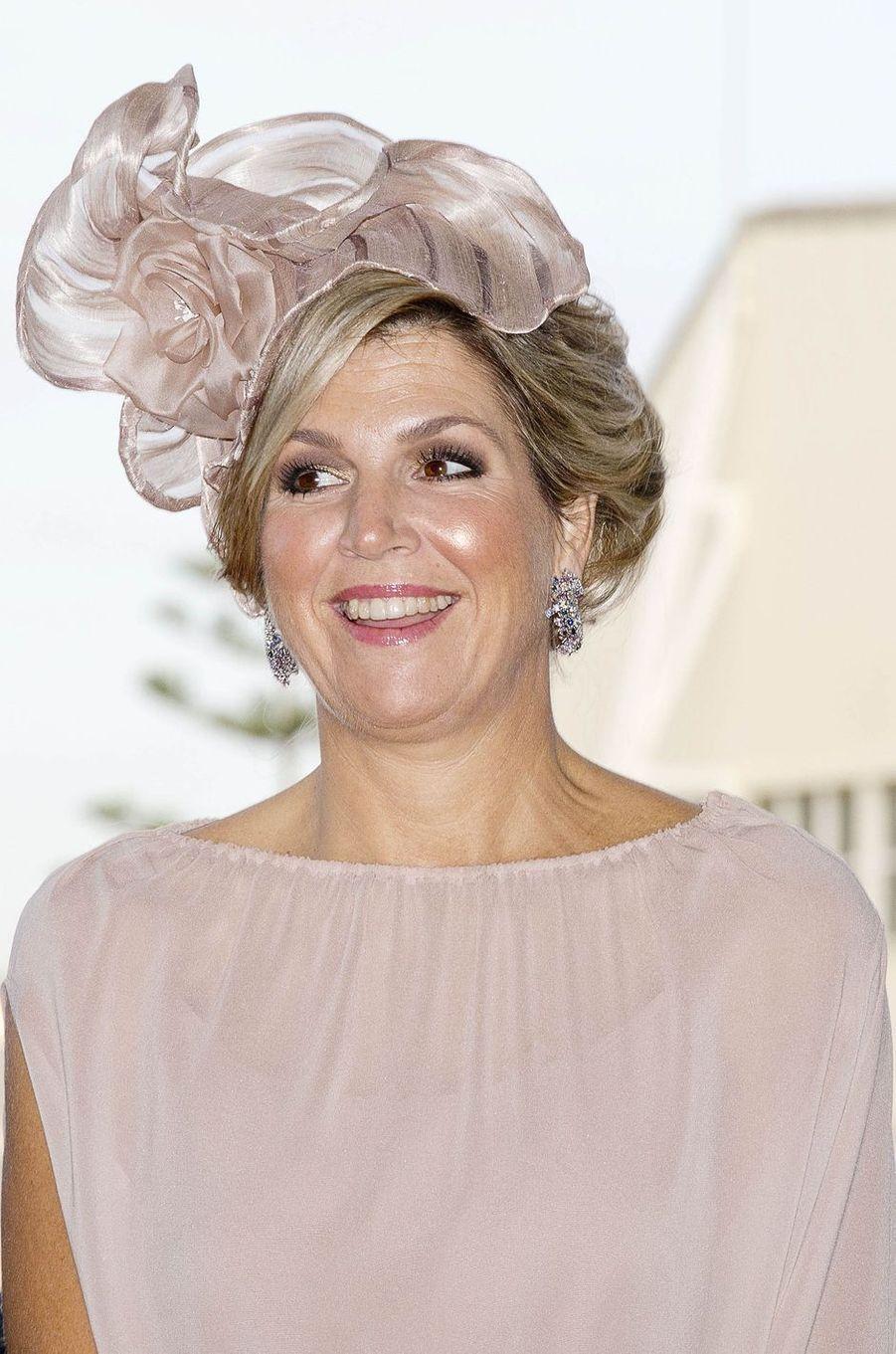 La reine Maxima des Pays-Bas à Alverca do Ribatejo, le 11 octobre 2017