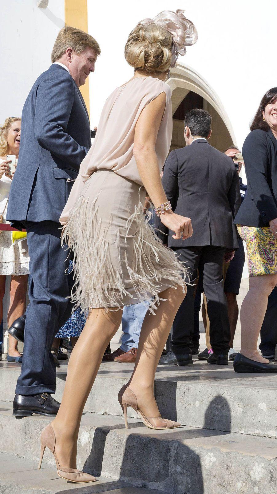 La reine Maxima des Pays-Bas à Sintra, le 11 octobre 2017