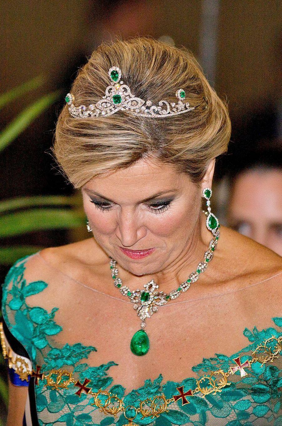 La reine Maxima des Pays-Bas à Lisbonne, le 10 octobre 2017
