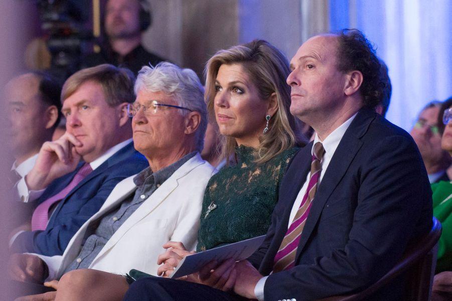 La reine Maxima et le roi Willem-Alexander des Pays-Bas à Amsterdam, le 6 décembre 2017