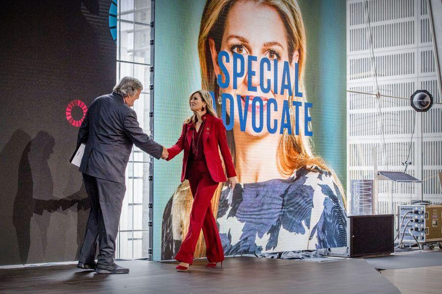 La reine Maxima des Pays-Bas à New-York, le 20 septembre 2017