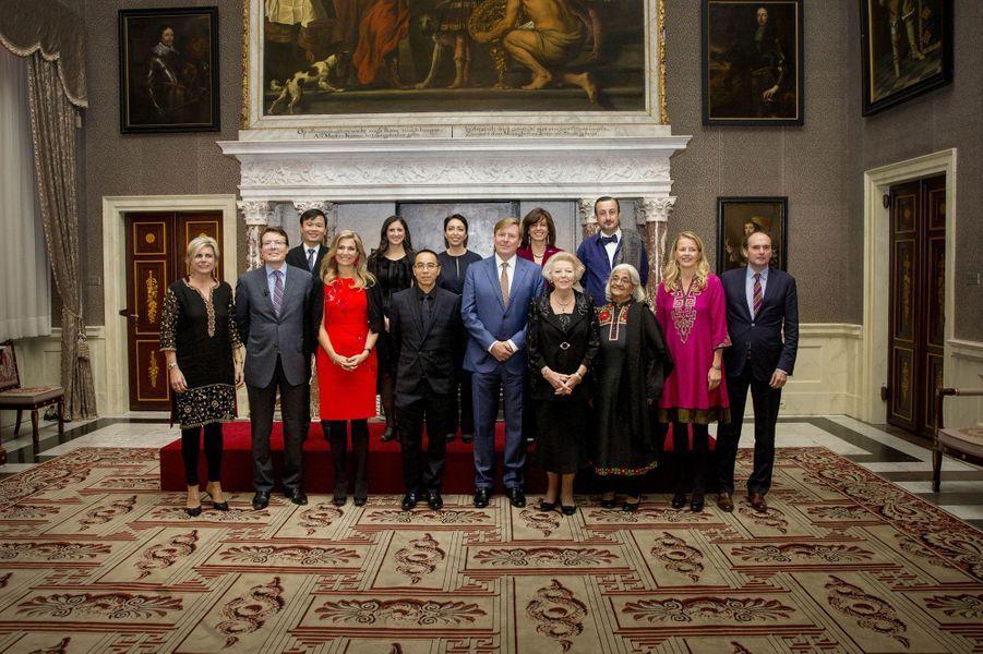 La famille royale des Pays-Bas à Amsterdam, le 15 décembre 2016
