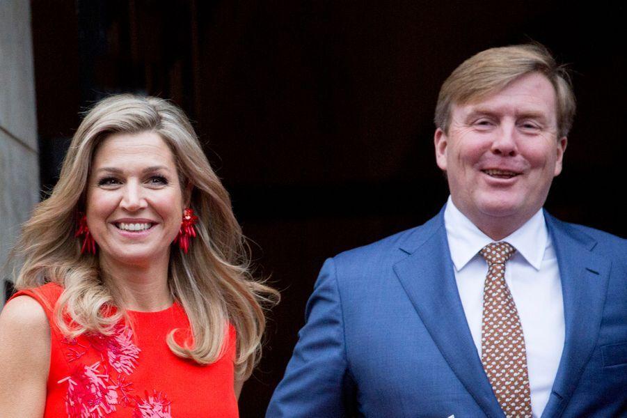 La reine Maxima et le roi Willem-Alexander à Amsterdam, le 15 décembre 2016