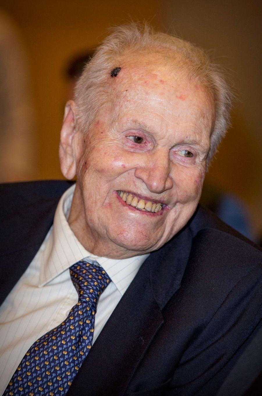 Jorge Zorreguieta, le père de la reine Maxima des Pays-Bas, à Buenos-Aires, le 11 octobre 2016