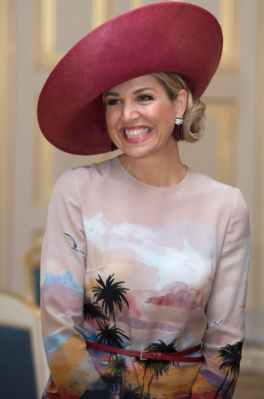 La reine Maxima des Pays-Bas à La Haye, le 4 juillet 2016