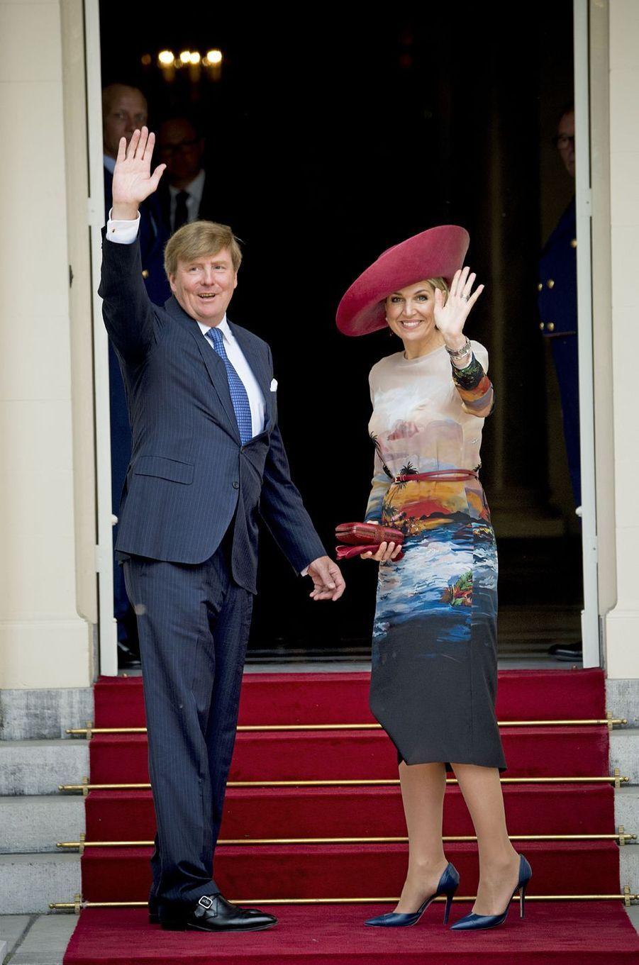 La reine Maxima et le roi Willem-Alexander des Pays-Bas à La Haye, le 4 juillet 2016