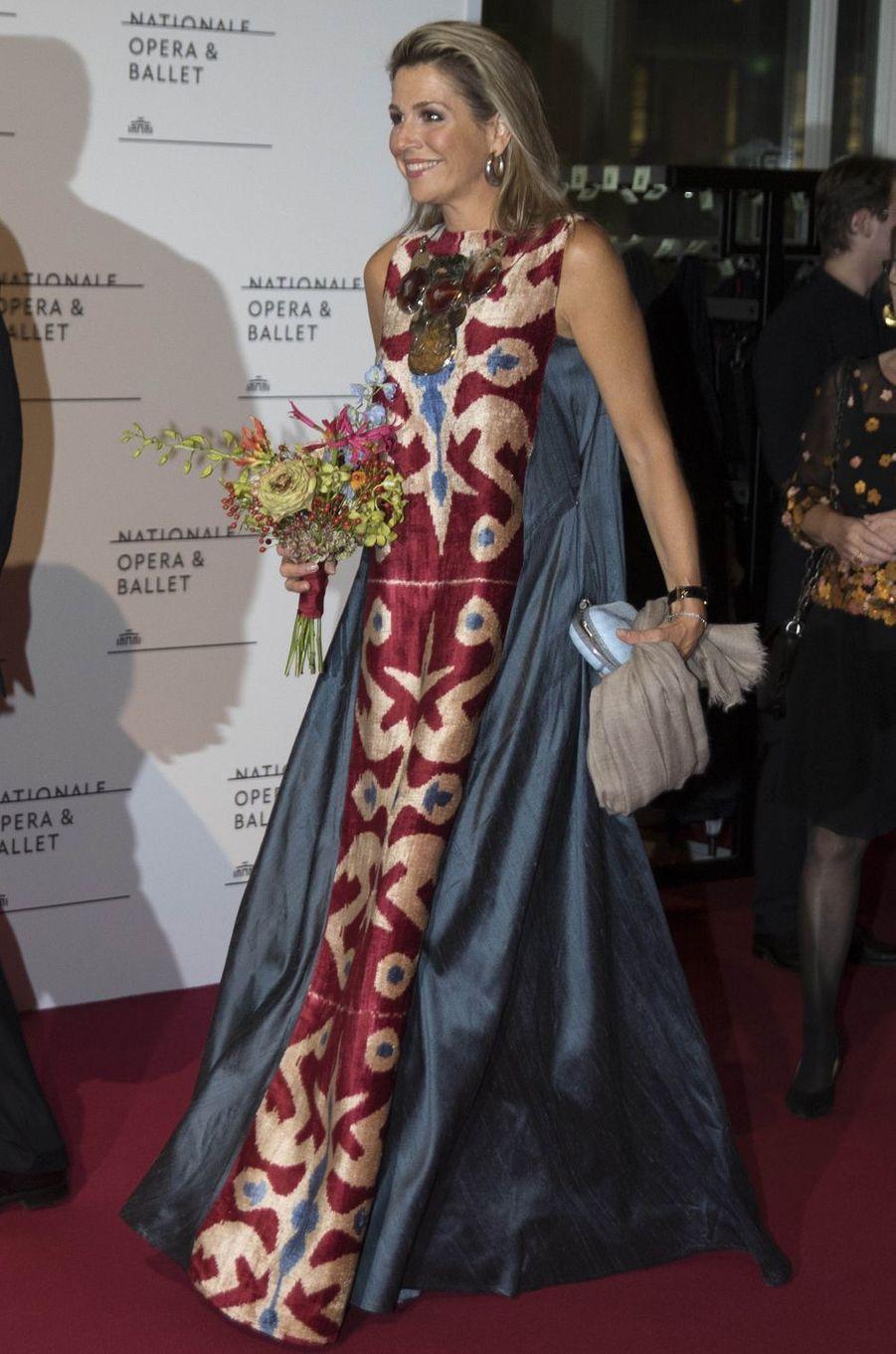 La reine Maxima des Pays-Bas à Amsterdam, le 15 septembre 2017