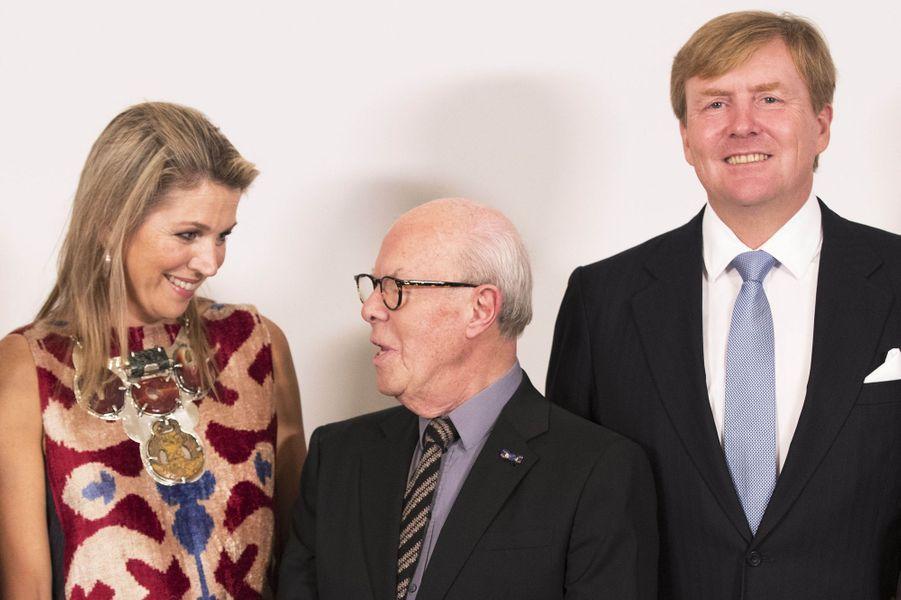 La reine Maxima et le roi Willem-Alexander des Pays-Bas à Amsterdam, le 15 septembre 2017