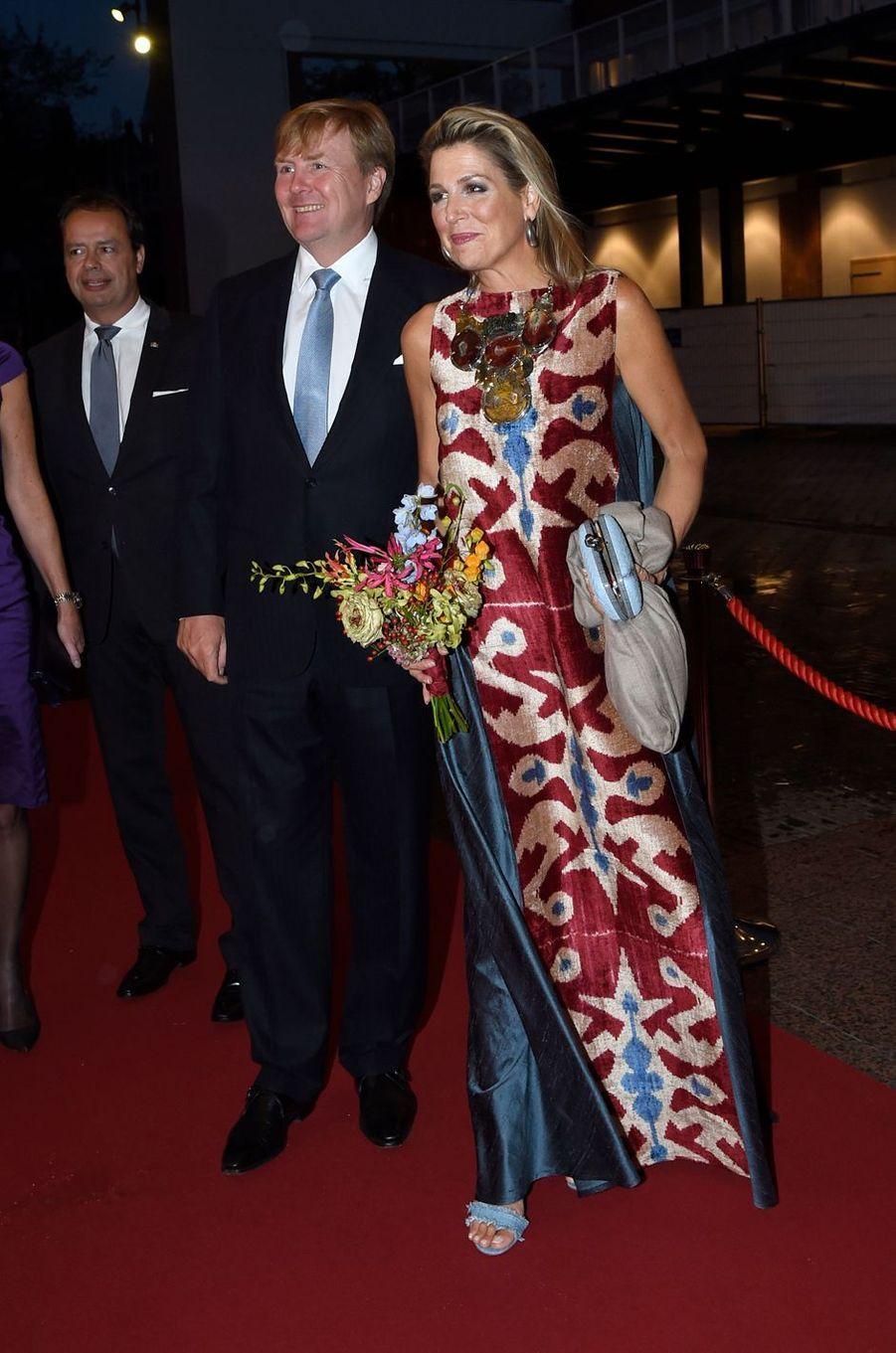 Le roi Willem-Alexander et la reine Maxima des Pays-Bas à Amsterdam, le 15 septembre 2017