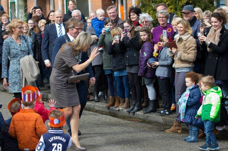 La reine Maxima des Pays-Bas à Nieuwer-Ter-Aa, le 30 mars 2016