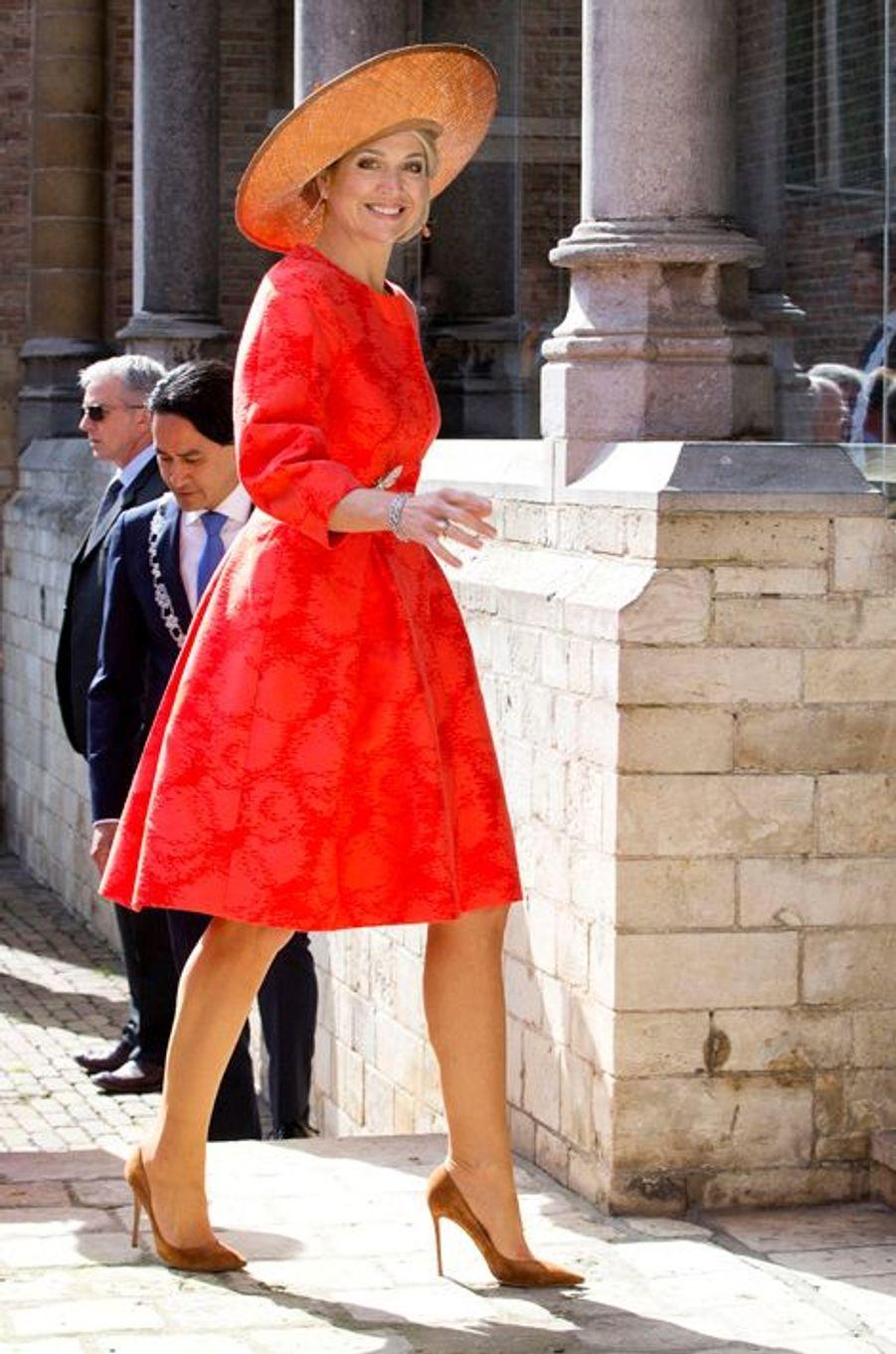 La reine Maxima des Pays-Bas à Middelburg, le 21 avril 2016