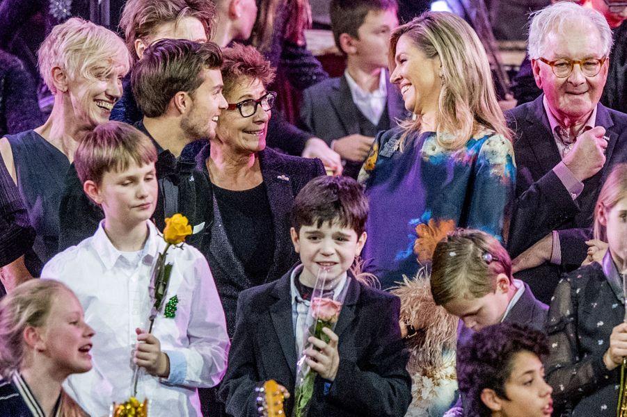 La reine Maxima des Pays-Bas à Rotterdam, le 14 décembre 2017