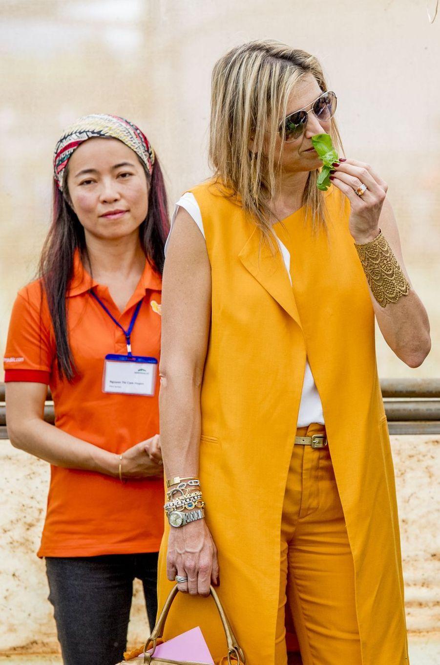 La reine Maxima des Pays-Bas à Da Lat au Vietnam, le 30 mai 2017