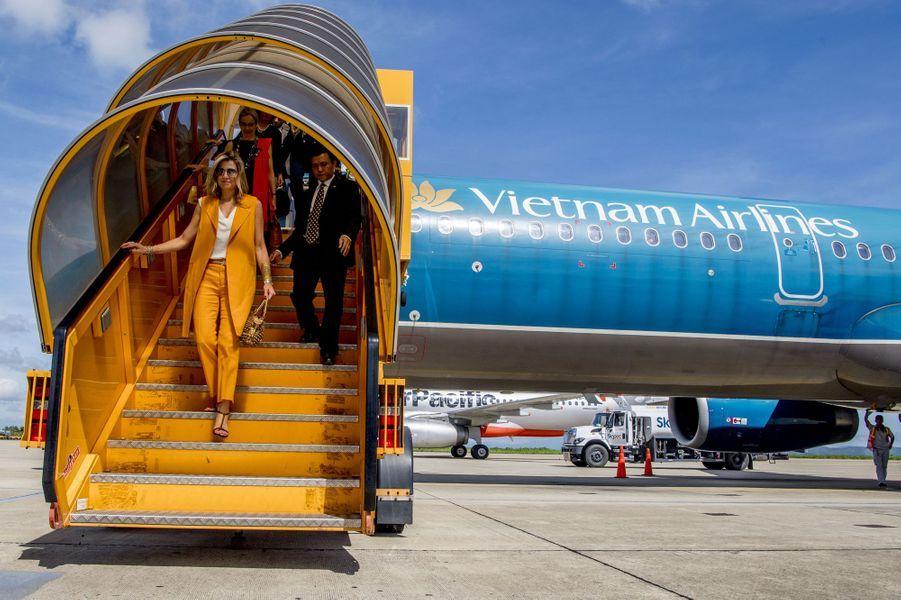 La reine Maxima des Pays-Bas à son arrivée à Da Lat au Vietnam, le 30 mai 2017