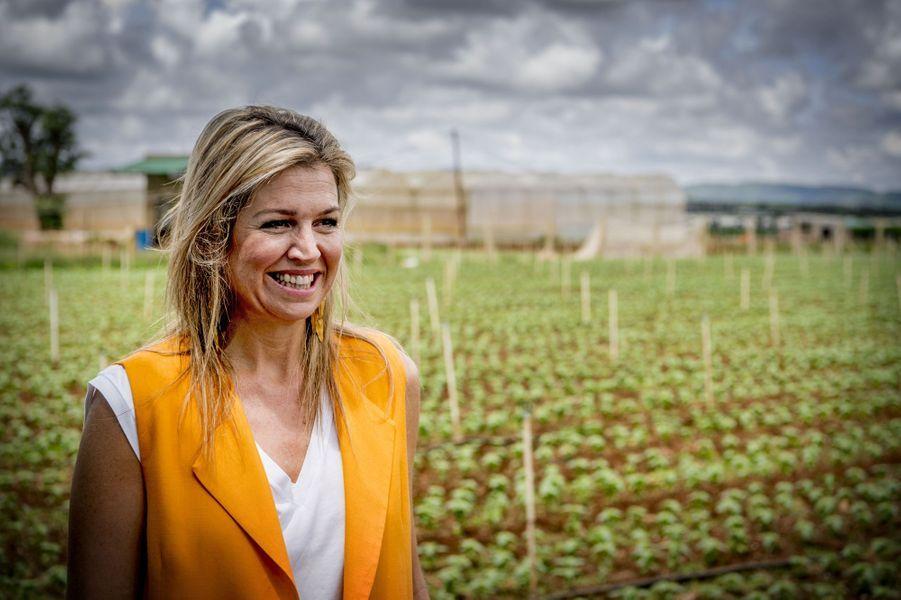 La reine Maxima des Pays-Bas dans une ferme horticole à Da Lat, le 30 mai 2017