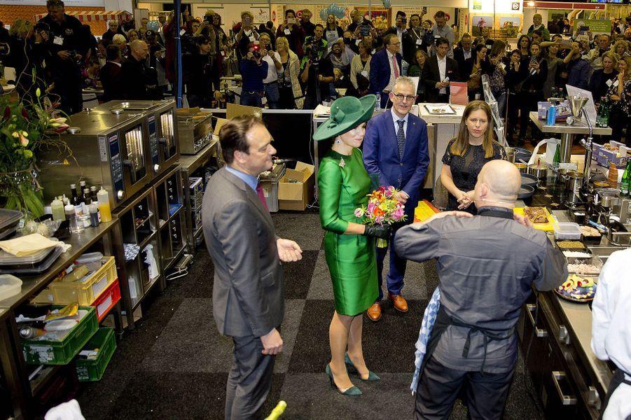 La reine Maxima des Pays-Bas à Zwolle, le 17 janvier 2018