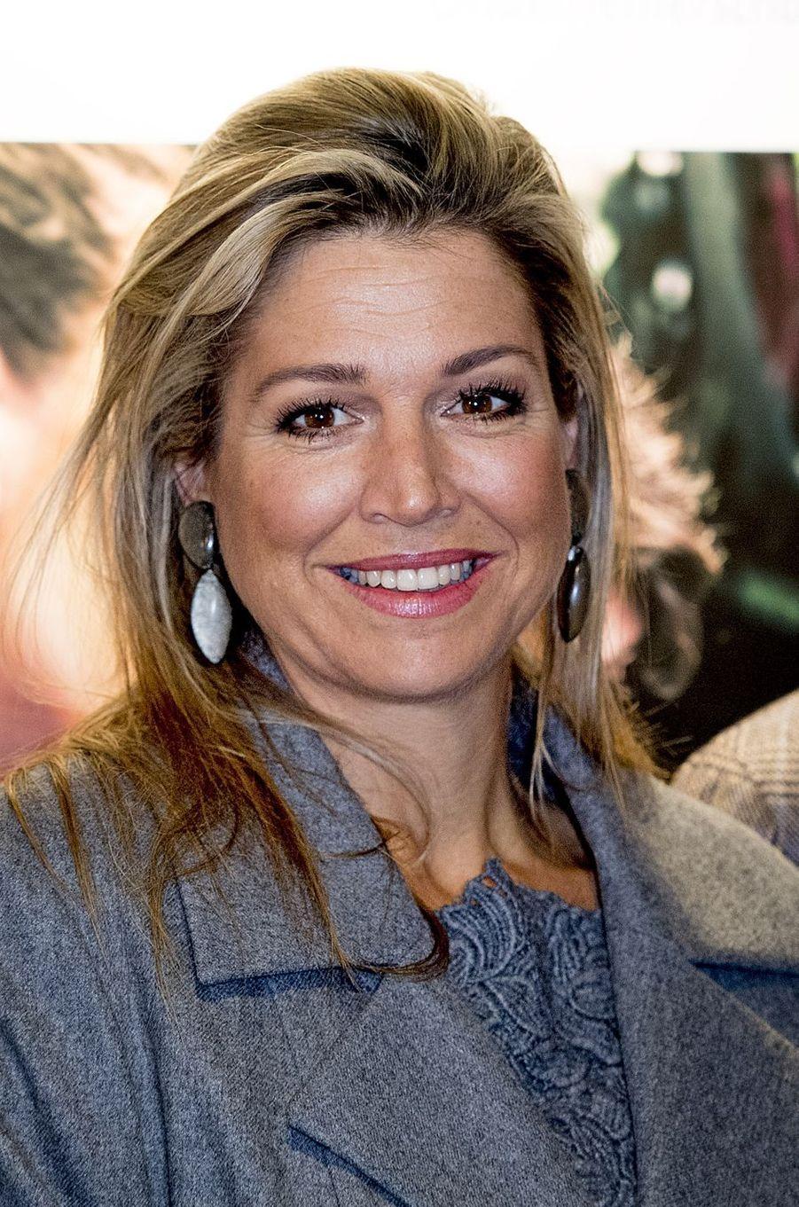 La reine Maxima des Pays-Bas à Voorschoten, le 18 novembre 2016