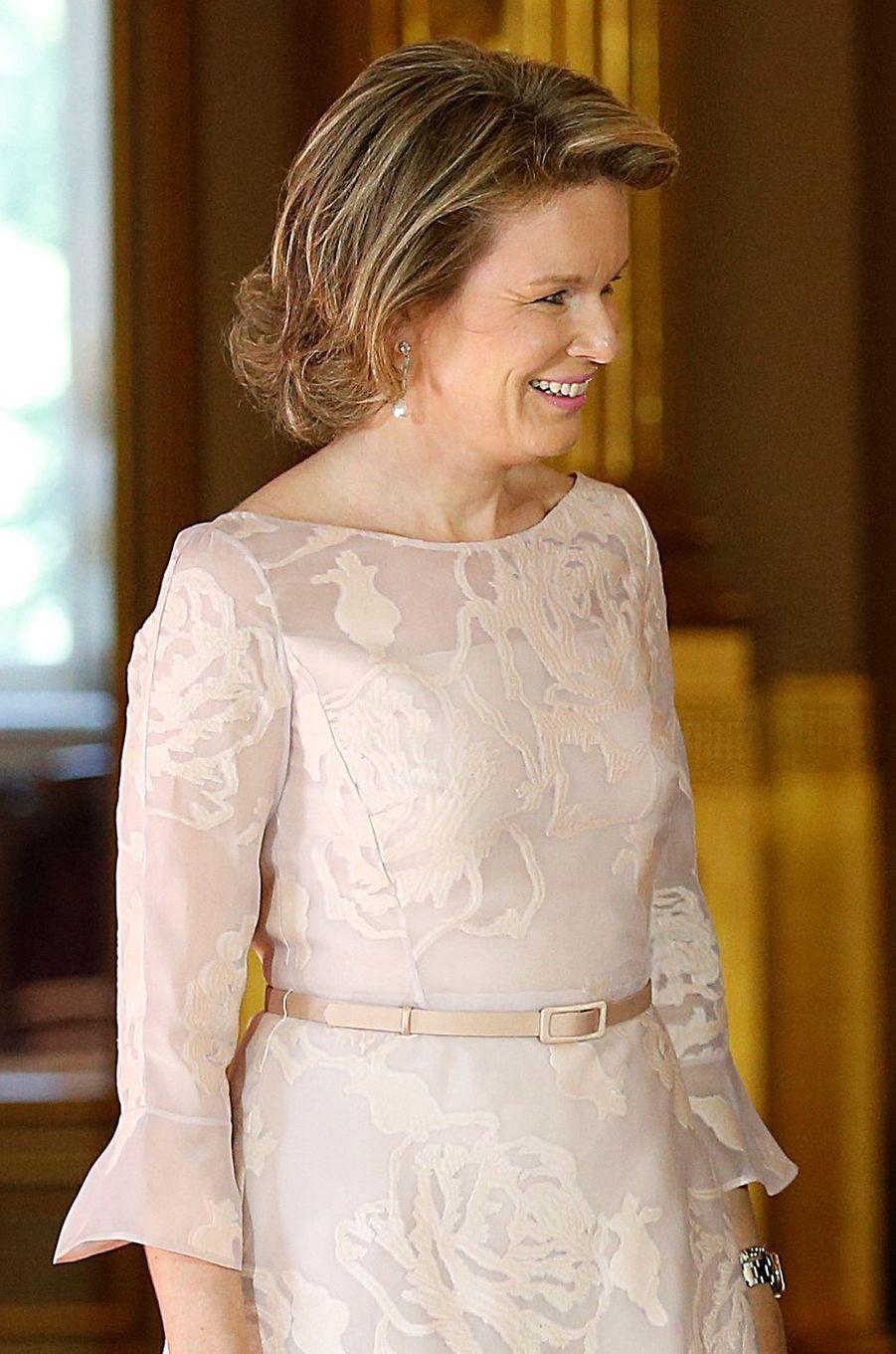 La reine Mathilde de Belgique à Bruxelles le 24 mai 2017