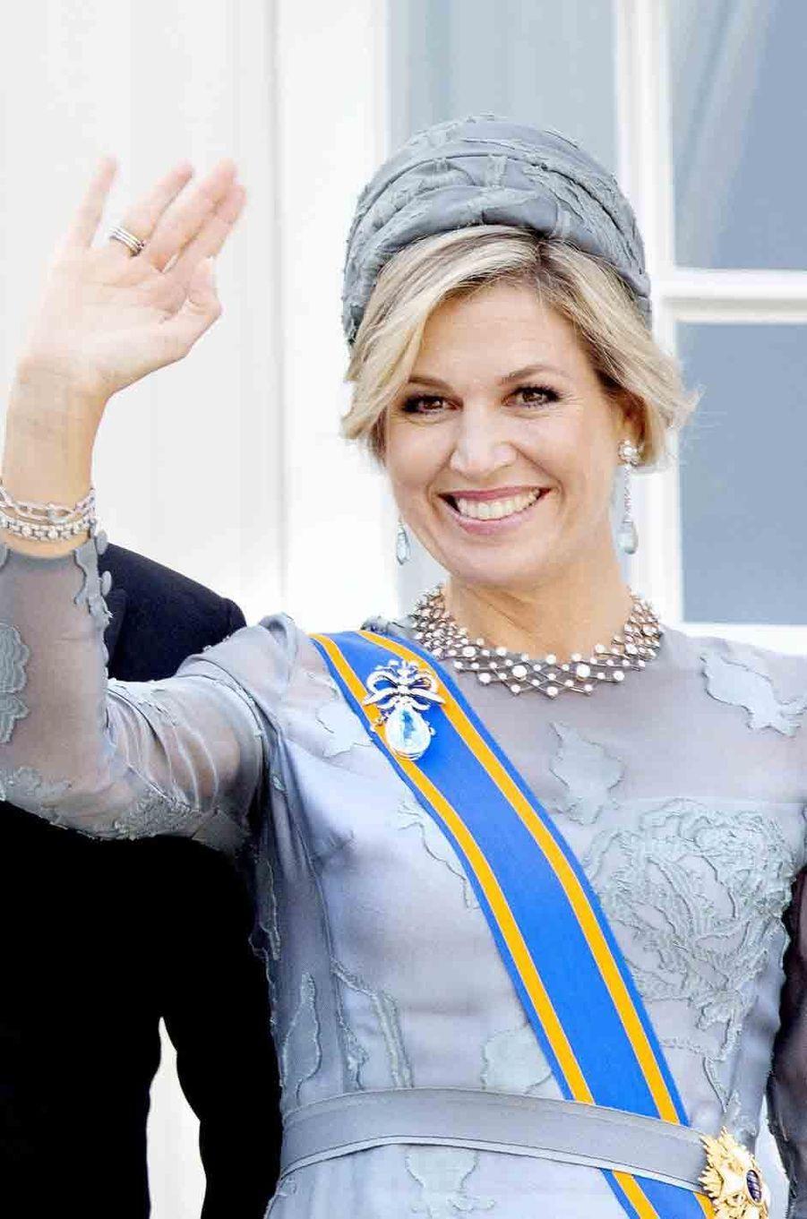 La reine Maxima des Pays-Bas à La Haye le 19 septembre 2017