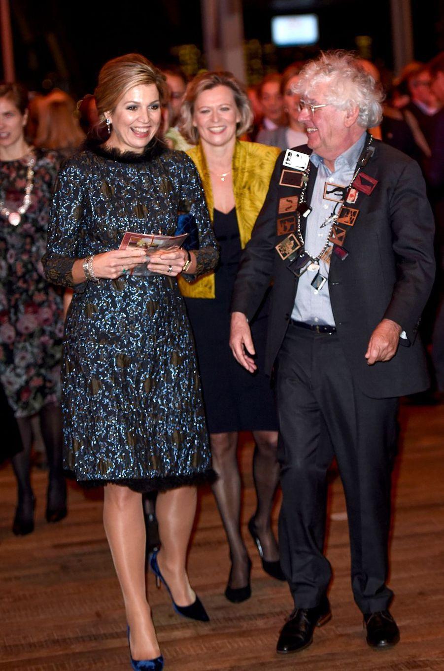 La reine Maxima des Pays-Bas à Amsterdam, le 27 novembre 2017