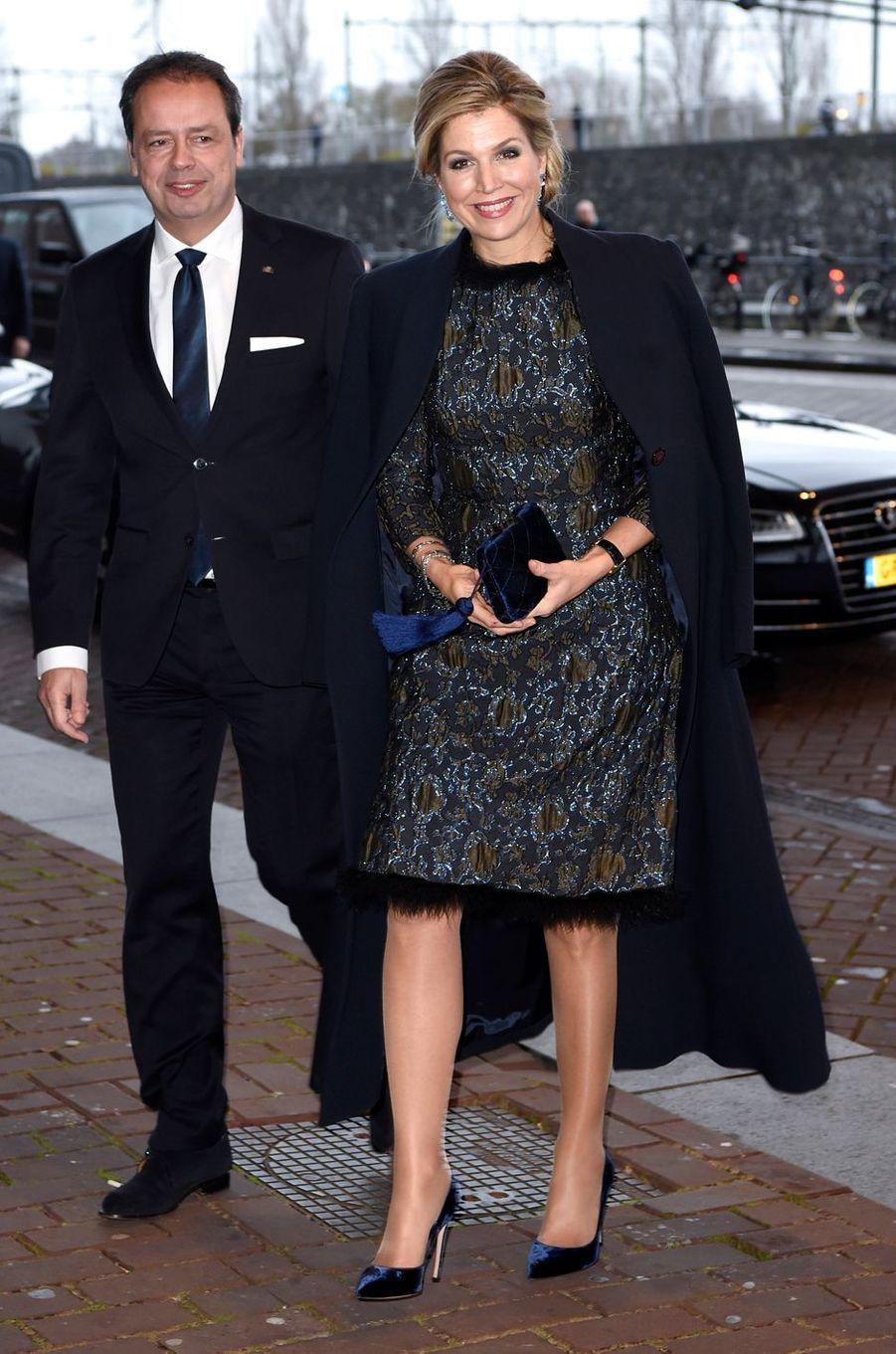 La reine Maxima des Pays-Bas le 27 novembre 2017 à Amsterdam