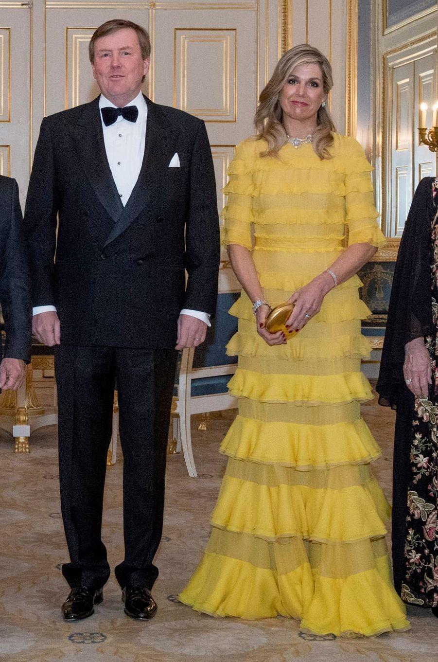 La reine Maxima et le roi Willem-Alexander des Pays-Bas à La Haye, le 20 mars 2018