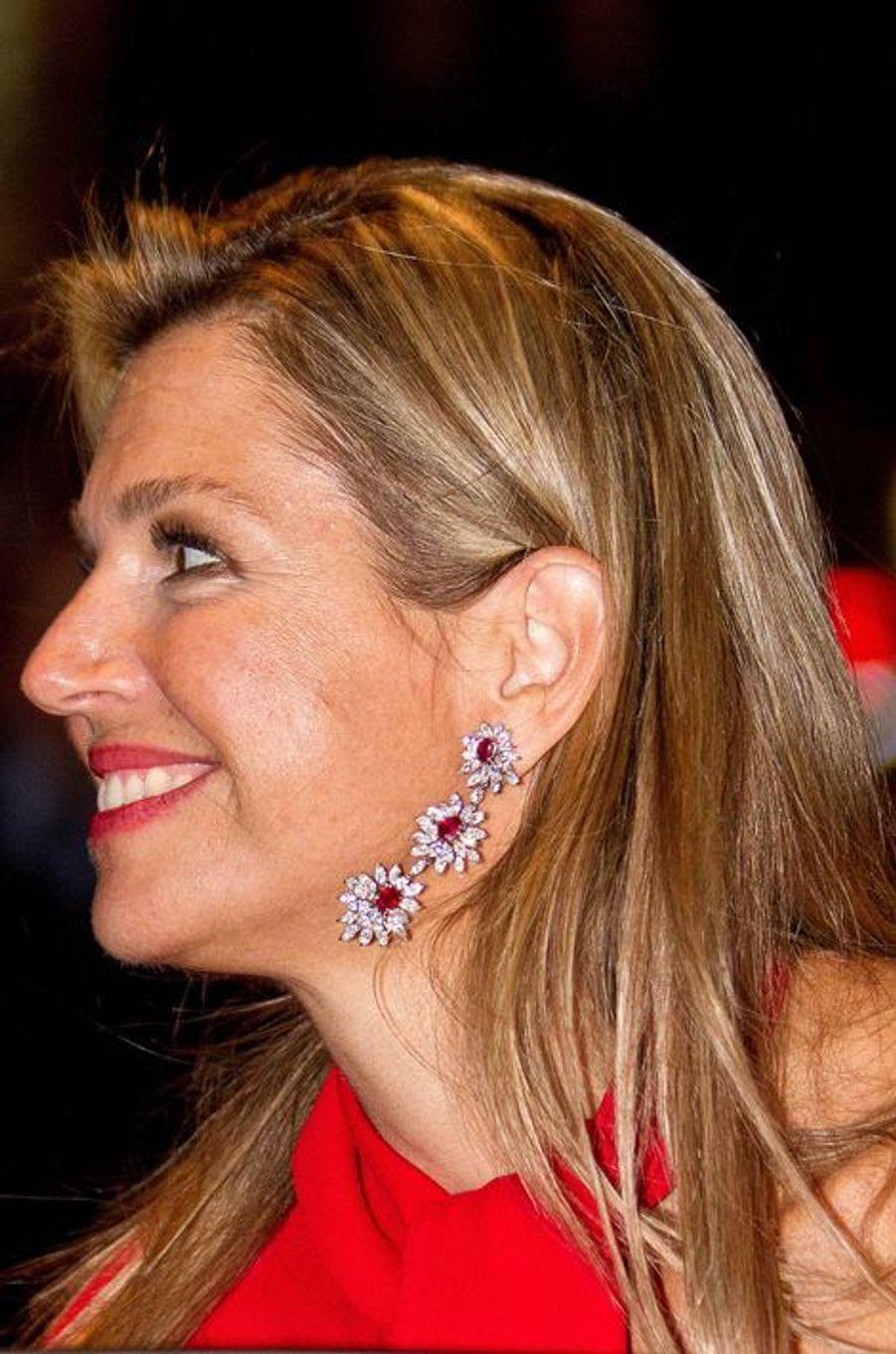 La reine Maxima des Pays-Bas à Amsterdam, le 10 septembre 2015