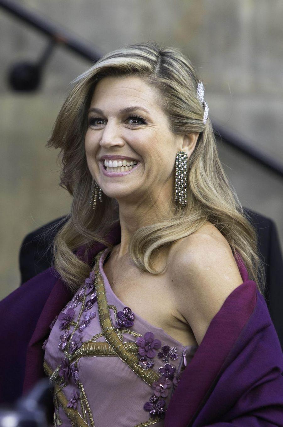 La reine Maxima des Pays-Bas à Amsterdam, le 28 avril 2017