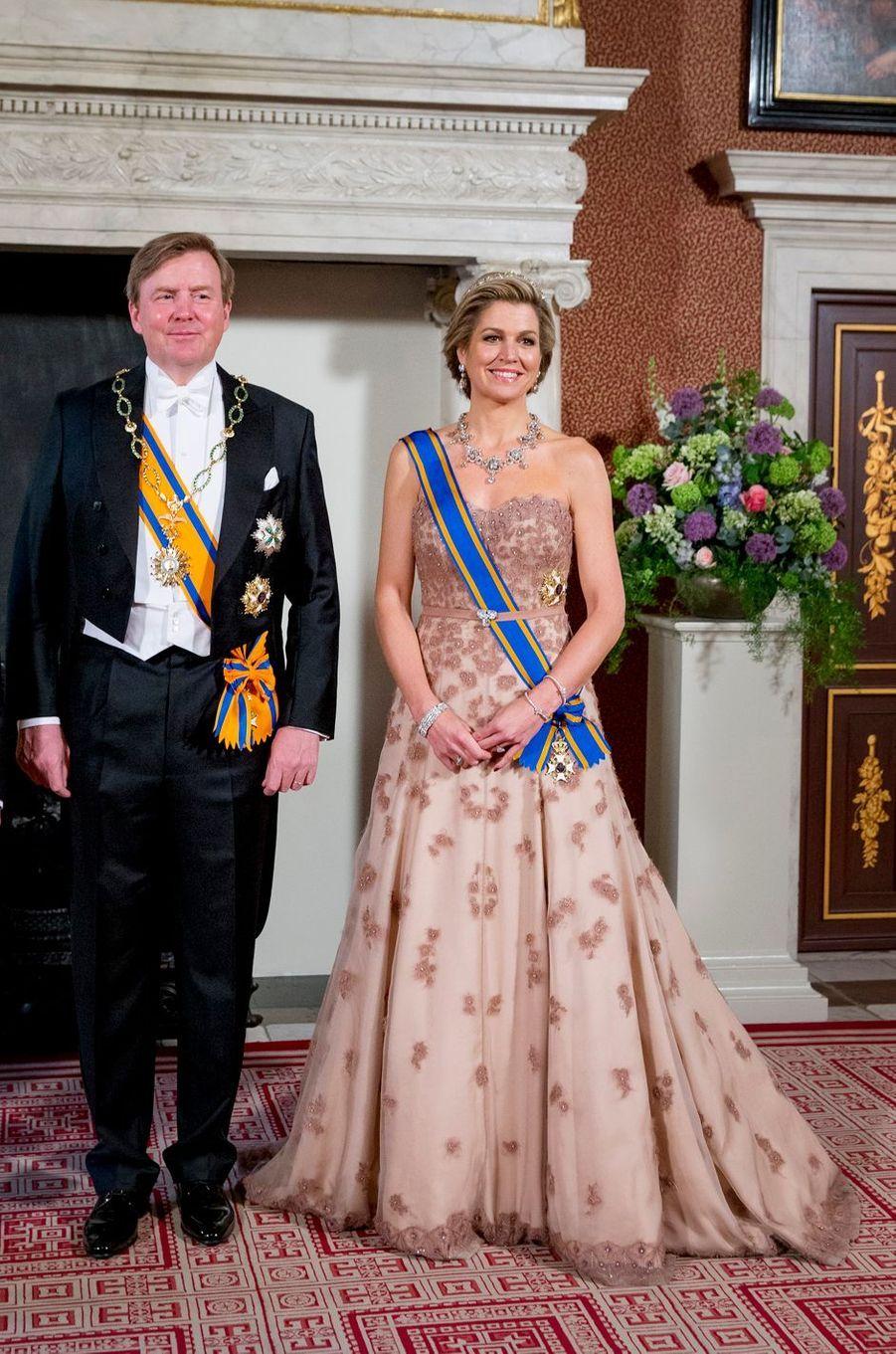 La reine Maxima et le roi Willem-Alexander des Pays-Bas à Amsterdam, le 27 mars 2017