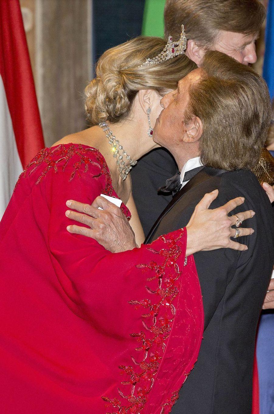 La reine Maxima des Pays-Bas avec Valentino à Rome, le 20 juin 2017