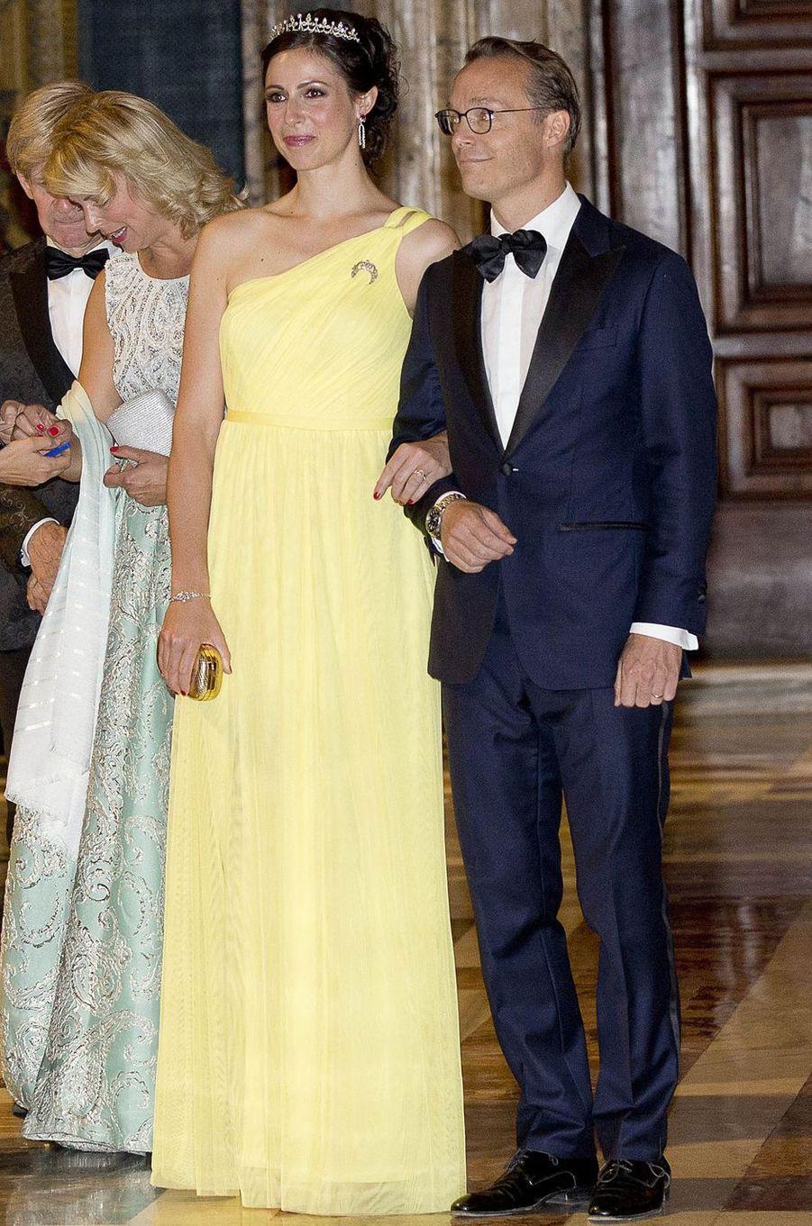 La princesse Viktoria et le prince Jaime de Bourbon de Parme à Rome, le 20 juin 2017