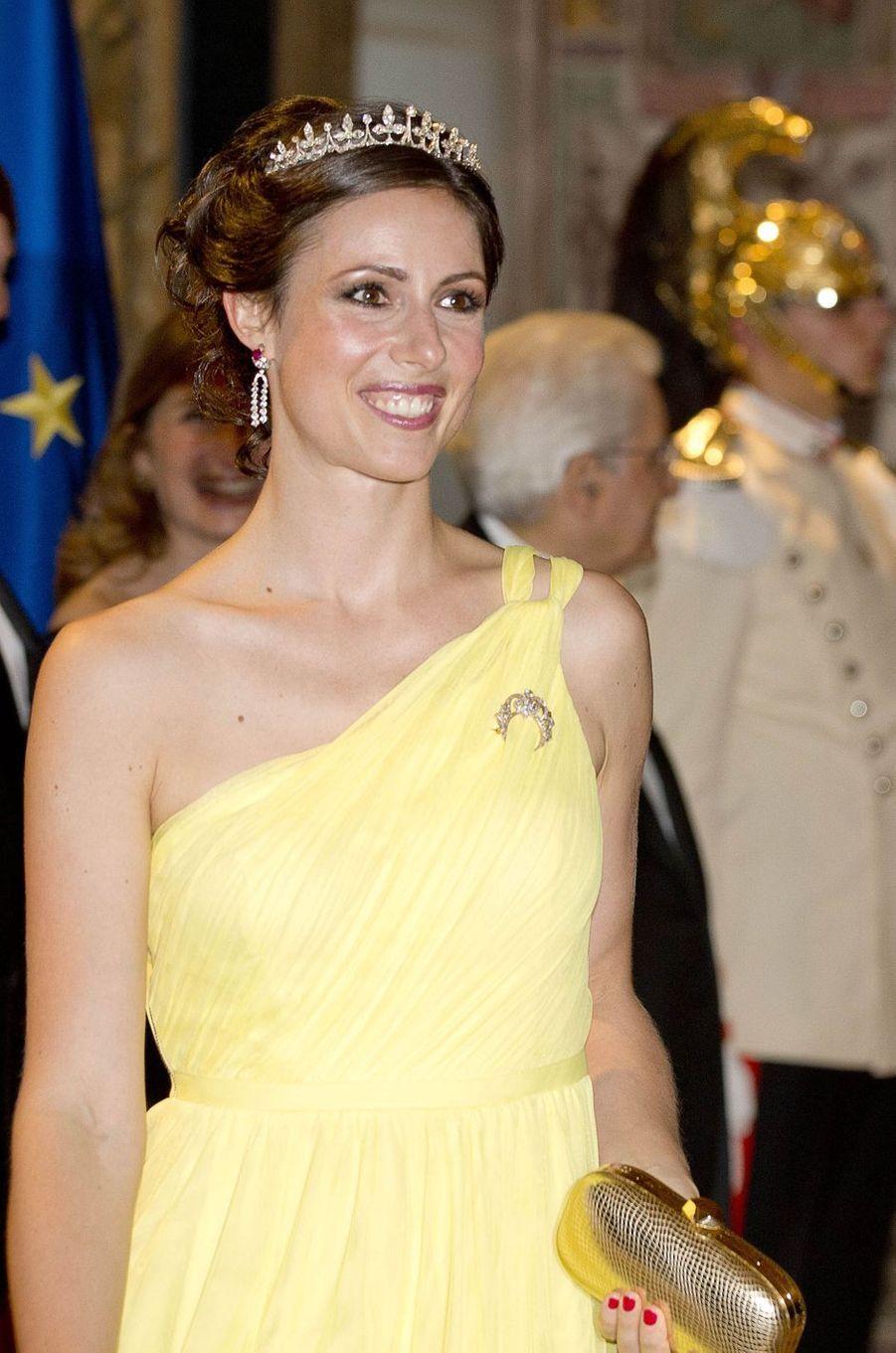 La princesse Viktoria de Bourbon de Parme à Rome, le 20 juin 2017