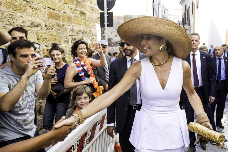 La reine Maxima des Pays-Bas à Palerme, le 21 juin 2017