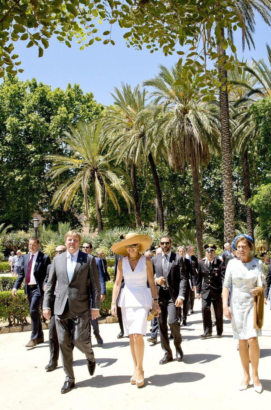 La reine Maxima et le roi Willem-Alexander des Pays-Bas à Palerme, le 21 juin 2017