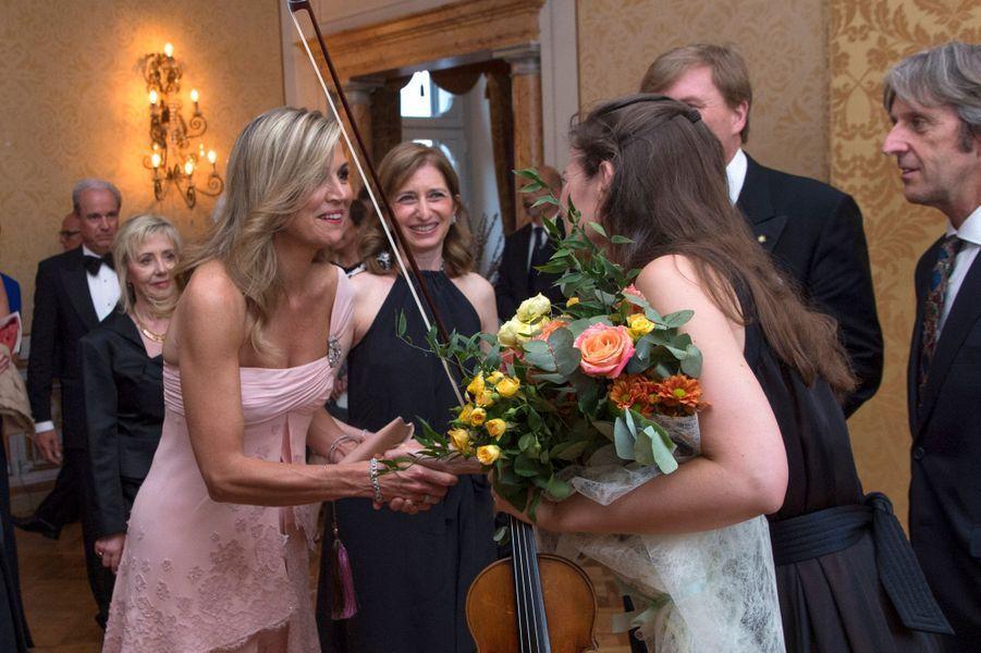 La reine Maxima des Pays-Bas avec Janine Janse à Rome, le 21 juin 2017