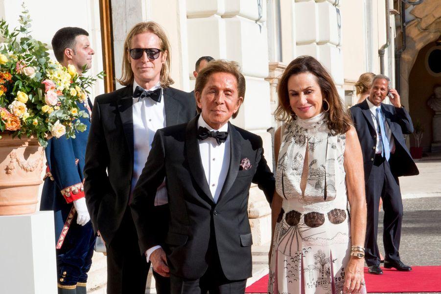 Le couturier Valentino à Rome, le 21 juin 2017