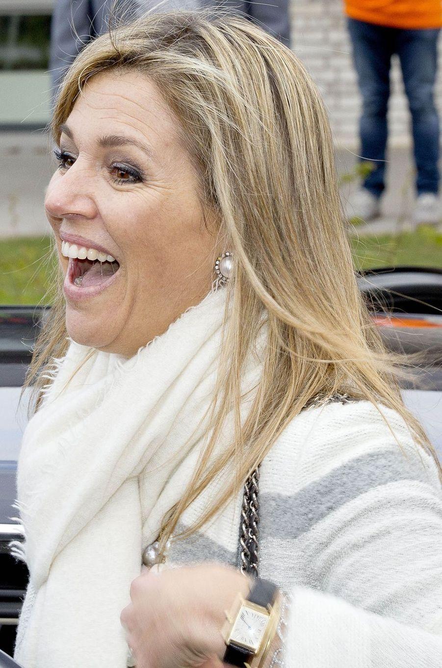 La reine Maxima des Pays-Bas à Veghel, le 21 avril 2017