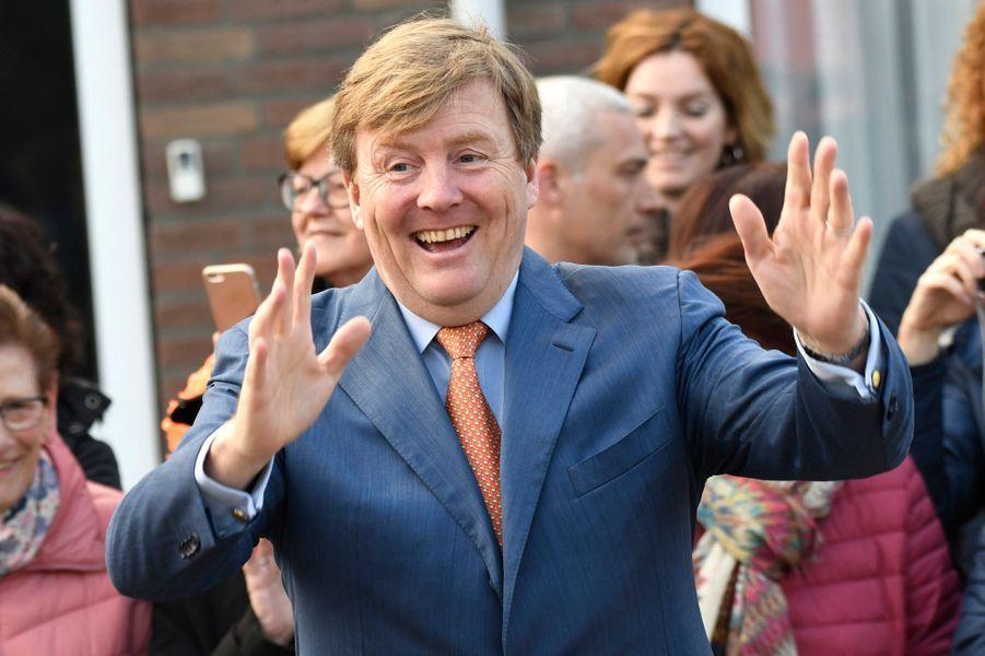 Le roi Willlem-Alexander des Pays-Bas à Veghel, le 21 avril 2017