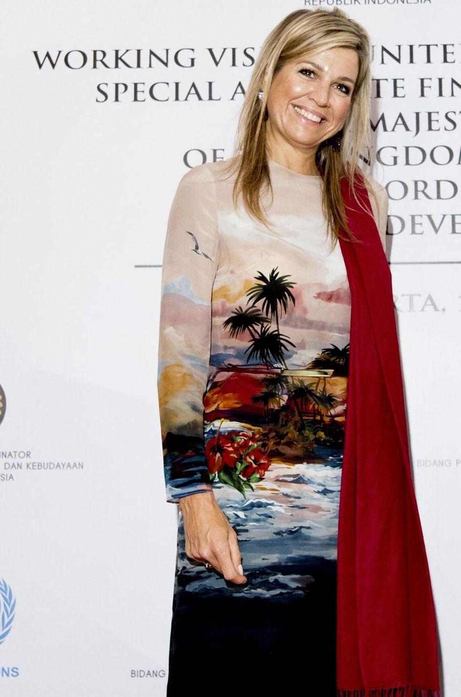 La reine Maxima des Pays-Bas à Jakarta, le 1er septembre 2016